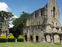 Wenlock Priory, Much Wenlock, Shropshire, England. A view of the ruins of Wenlock Priory and Abbey in the village Much Wenlock, Shropshire in England Royalty Free Stock Photos