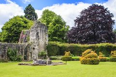 Much Wenlock, Shropshire, England. Wenlock Priory, is a ruined 12th century monastery, located in Much Wenlock. The foundation was a part of the Cluniac order royalty free stock photos