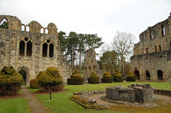 Wenlock priory & topiary Stock Images