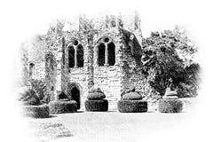 Wenlockpriorij, Shropshire royalty-vrije illustratie