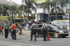 WENN DAS FALL-EREIGNIS-STADT-POLIZEI-SOLO JAWA TENGAH stockfotografie