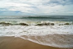 Wenn der Ozean seine ganze Schönheit zeigt Lizenzfreies Stockfoto
