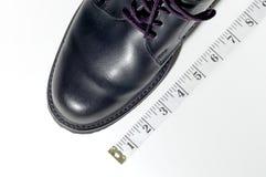 Wenn die Schuhpaßsitze Stockfotos