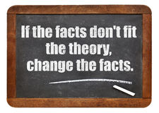 Wenn die Tatsachen nicht die Theorie passen Stockfoto