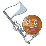 Wenn Flagge plenet Quecksilber in einem Maskottchen lokalisiert ist lizenzfreie abbildung