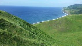 Wenn Gras das Meer trifft Lizenzfreies Stockbild