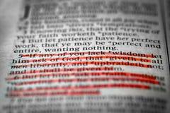Wenn irgendein von Ihnen Mangel-Klugheit ihn von Gott-James-1:5 fragen ließ lizenzfreies stockfoto