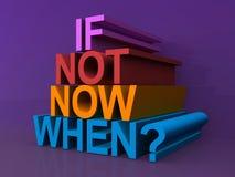 Wenn nicht jetzt als? lizenzfreie abbildung
