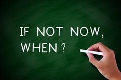 Wenn nicht jetzt, wenn? Lizenzfreie Stockfotos