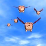 Wenn Schweine fliegen Lizenzfreies Stockbild
