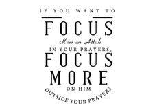 Wenn Sie mehr auf Allah in Ihrem Gebet richten möchten stock abbildung