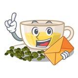 Wenn Umschlag oolong Tee im Maskottchen lokalisiert ist vektor abbildung