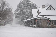 Wenonahstation in de winter Royalty-vrije Stock Foto's