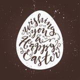 Wensend u een gelukkige Pasen-affiche Royalty-vrije Stock Foto