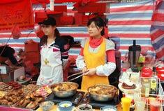 wenshou för säljare för gata för chengdu porslinmat Royaltyfri Foto