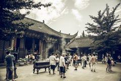 Wenshu修道院,成都,中国 免版税库存照片