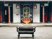 Wenshu Buddhist Monastery in Chengdu Royalty Free Stock Images