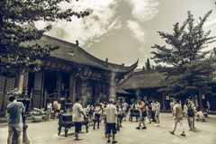 Wenshu-Kloster, Chengdu, China stockfotografie