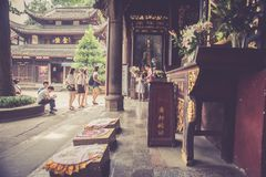 Wenshu-Kloster, Chengdu, China Stockfotos