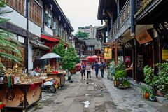 Wenshu monastery pedestrian area in Chengdu Sichuan China Stock Images