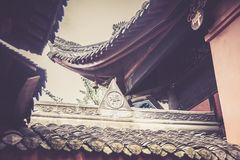 Wenshuklooster, Chengdu, China Stock Foto's