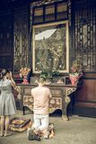 Wenshuklooster, Chengdu, China stock fotografie