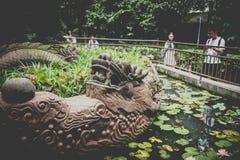 Wenshuklooster, Chengdu, China stock foto