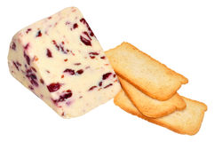Wensleydale And Cranberry Cheese Stock Images