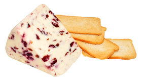 Wensleydale And Cranberry Cheese Royalty Free Stock Photo