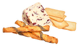 Wensleydale And Cranberry Cheese Royalty Free Stock Images