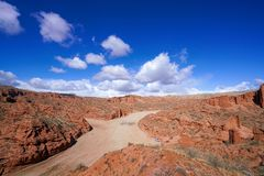 Wensu Grand Canyon in Autumn. Wensu Grand Canyon in Wensu County, Northwest China`s Xinjiang Uygur Autonomous Region, is a living museum of geological evolution stock images