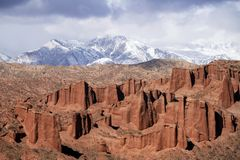 Wensu Grand Canyon in Autumn. Wensu Grand Canyon in Wensu County, Northwest China`s Xinjiang Uygur Autonomous Region, is a living museum of geological evolution stock image