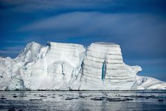 Andy Bay in Antarctic,a place where human beings never tread.Antarctica stock photography
