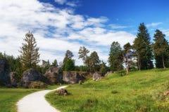 Wental, Felsenmeer w Szwabskiej albie, Baden-WÃ ¼ rttemberg, Niemcy Zdjęcia Royalty Free