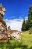 Wental, Felsenmeer w Szwabskiej albie, Baden-WÃ ¼ rttemberg, Niemcy Zdjęcie Stock