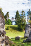 Wental, Felsenmeer w Szwabskiej albie, Baden-WÃ ¼ rttemberg, Niemcy Obrazy Royalty Free