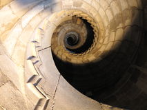 Wenteltrap in dell'Ovo Castel - Napels Stock Afbeeldingen