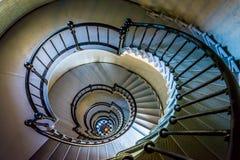 Wenteltrap in Ponce DE Leon Inlet Lighthouse, Florida Royalty-vrije Stock Foto