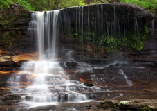 Wentworth Falls. In the Blue Mountains near Sydney. Water cascading on to rocks Stock Photo