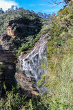 Wentworth Falls in Blue Mountains, Australia Royalty Free Stock Images