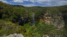 Wentworth Falls en las monta?as azules, NSW, Australia fotos de archivo