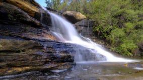 Wentworth Falls i de bl?a bergen, NSW, Australien arkivfoto