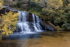 Wentworth Falls på blåa berg Arkivbild
