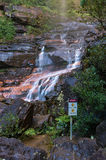 Wentworth Falls view from beneath. Vertical Royalty Free Stock Images