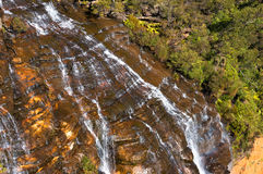 Wentworth Falls waterfall close up view from above Stock Image