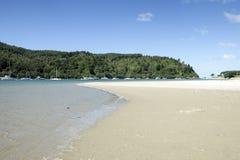 Wentworth River Mouth à la péninsule Nouvelle-Zélande NZ de Whangamata Coromandel Images libres de droits