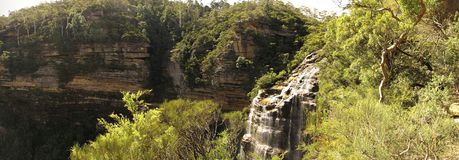 Wentworth spada, Błękitny góra park narodowy, NSW, Australia zdjęcie stock