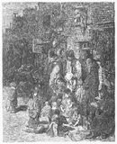 Wentworth Street. Picture from Gustave Dore's London: a Pilgrimage illustrated book published in 1873, London - UK stock illustration