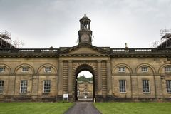 Free WENTWORTH, UK - June 1, 2018. Clock Tower From Wentworth Woodhouse Stately Home, Originally A Jacobean House Later Rebuilt. Stock Image - 139176491