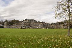Wentworth Woodhouse Mansion With Deer Stock Image